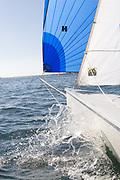 Viper 640 Sailing downwind off Marblehead