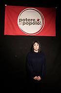 Napoli, Italia - Viola Carofalo, leader del movimento Potere al Popolo, ritratta nell'ex OPG di Napoli.<br /> Ph. Roberto Salomone