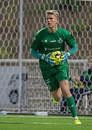 Christoffer Petersen (FC Helsingør) under kampen i 2. Division mellem FC Helsingør og Boldklubben Frem den 27. september 2019 på Helsingør Ny Stadion (Foto: Claus Birch).