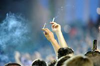 Supporters de Bordeaux manifestent contre l'interdiction de fumer en tribune   - 23.05.2015 - Bordeaux / Montpellier - 38eme journee Ligue 1<br /> Photo : Nolwenn Le Gouic / Icon Sport