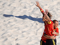 FIFA BEACH SOCCER WORLD CUP 2008 SPAIN - JAPAN   22.07.2008 AMARELLE (l) celebrates his goal with NICO (ESP).
