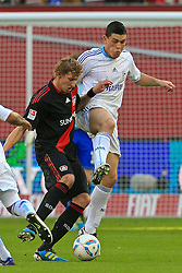 23.10.2011,  BayArena, Leverkusen, GER, 1.FBL, Bayer 04 Leverkusen vs Schalke 04, im Bild.Stefan Kiessling (Leverkusen #11) gegen Kyriakos Papadopoulos (Schalke #14)..// during the 1.FBL, Bayer Leverkusen vs Schalke 04 on 2011/10/23, BayArena, Leverkusen, Germany. EXPA Pictures © 2011, PhotoCredit: EXPA/ nph/  Mueller       ****** out of GER / CRO  / BEL ******