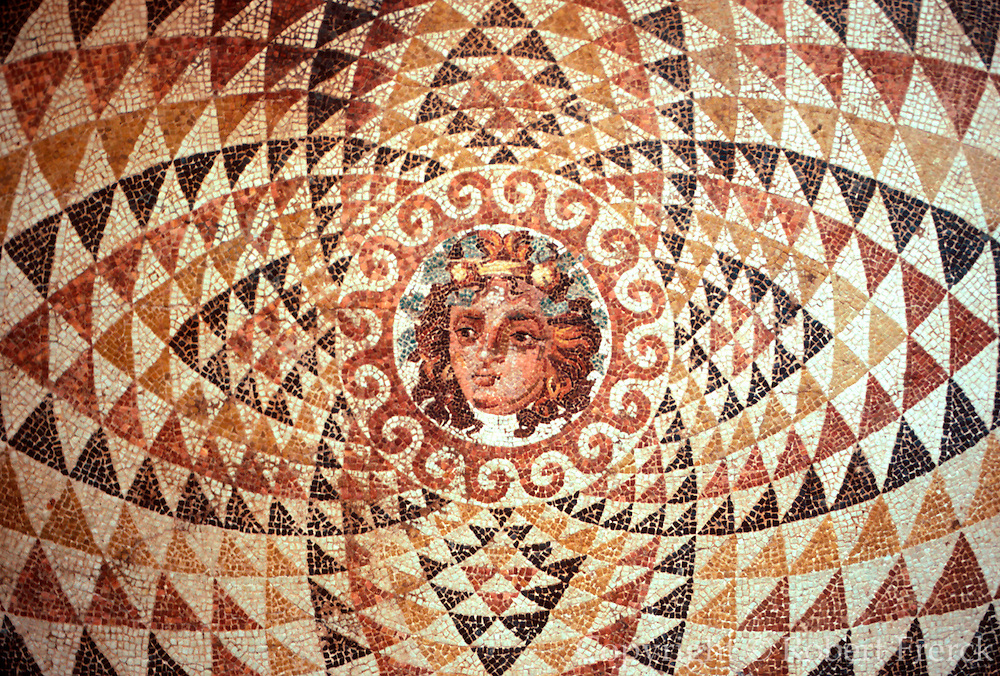 ITALY, ROMAN CULTURE Mosaic of Medusa from Corinth
