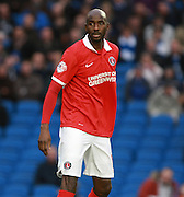 Charlton Athletic midfielder Alou Diarra during the Sky Bet Championship match between Brighton and Hove Albion and Charlton Athletic at the American Express Community Stadium, Brighton and Hove, England on 5 December 2015. Photo by Bennett Dean.