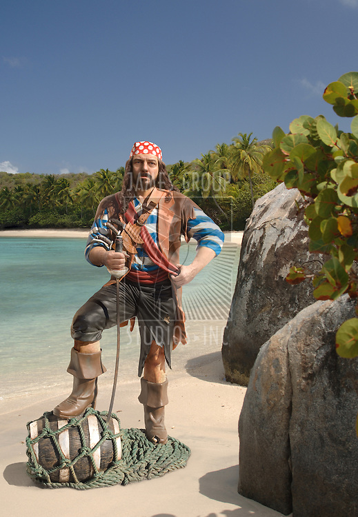 Pirate on a Caribbean beach