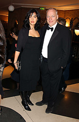 Musician DAVID GILMOUR and his wife POLLY SAMPSON at the 2005 Whitbread Book Awards 2005 held at The Brewery, Chiswell Street, London EC1 on 24th January 2006. The winner of the 2005 Book of the Year was Hilary Spurling for her biography 'Matisse the Master'.<br /><br />NON EXCLUSIVE - WORLD RIGHTS