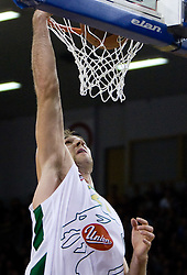 Vladimir Golubovic (21) of Olimpija at Euroleague basketball match of Group C between KK Union Olimpija, Ljubljana and Maroussi B.C., Athens, on October 29, 2009, in Arena Tivoli, Ljubljana, Slovenia. Olimpija lost 75:81.  (Photo by Vid Ponikvar / Sportida)