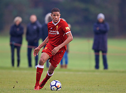 WOLVERHAMPTON, ENGLAND - Tuesday, December 19, 2017: Liverpool's Elijah Dixon-Bonner during an Under-18 FA Premier League match between Wolverhampton Wanderers and Liverpool FC at the Sir Jack Hayward Training Ground. (Pic by David Rawcliffe/Propaganda)