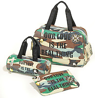 our love is the real thing harajuku lovers camo bag collection