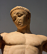 'Kew Gardens Hermes'. Statue of Hermes, the patron god of the gymnasium. Roman, 1st century AD copy of a Greek original from 330-300 BC.