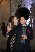NATALIE DRAY; OLLI E HOGAN, Ball at to celebrateBlanche Howard's 21st and  George Howard's 30th  birthday. Dress code: Black Tie with a touch of Surrealism. Castle Howard. Yorkshire. 14 November 2015