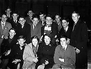 """12/11/1954<br /> 11/12/1954<br /> 12 November 1954 <br /> Radio Review special for recording of Radio Eireann programme """"It's All Yours""""."""