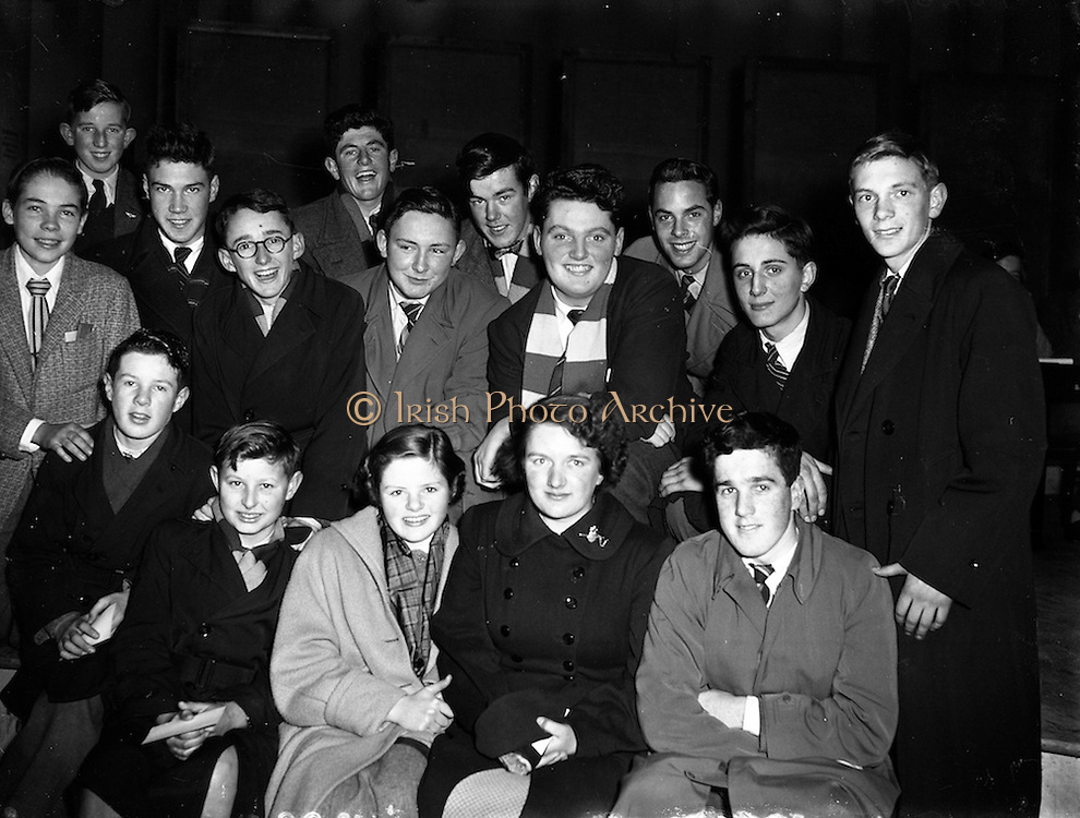 12/11/1954<br /> 11/12/1954<br /> 12 November 1954 <br /> Radio Review special for recording of Radio Eireann programme &quot;It's All Yours&quot;.