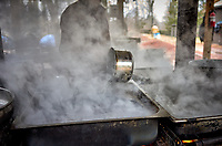 Neighborhood Maple syrup boil down party. Image taken with a Leica T camera and 23 mm f/1.4 lens (ISO 640, 23 mm, f/2, 1/125 sec).
