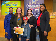 Bonham Elementary School is recognized during the reveal of the 32 finalists in the Houston ISD NCAA Read to the Final Four, November 11, 2015.