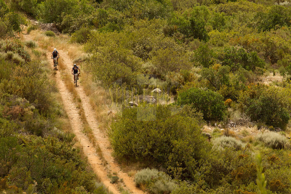 Riders on jeep track during stage 6 of the 2013 Absa Cape Epic Mountain Bike stage race from Wellington to Stellenbosch, South Africa on the 23 March 2013..Photo by Greg Beadle/Cape Epic/SPORTZPICS