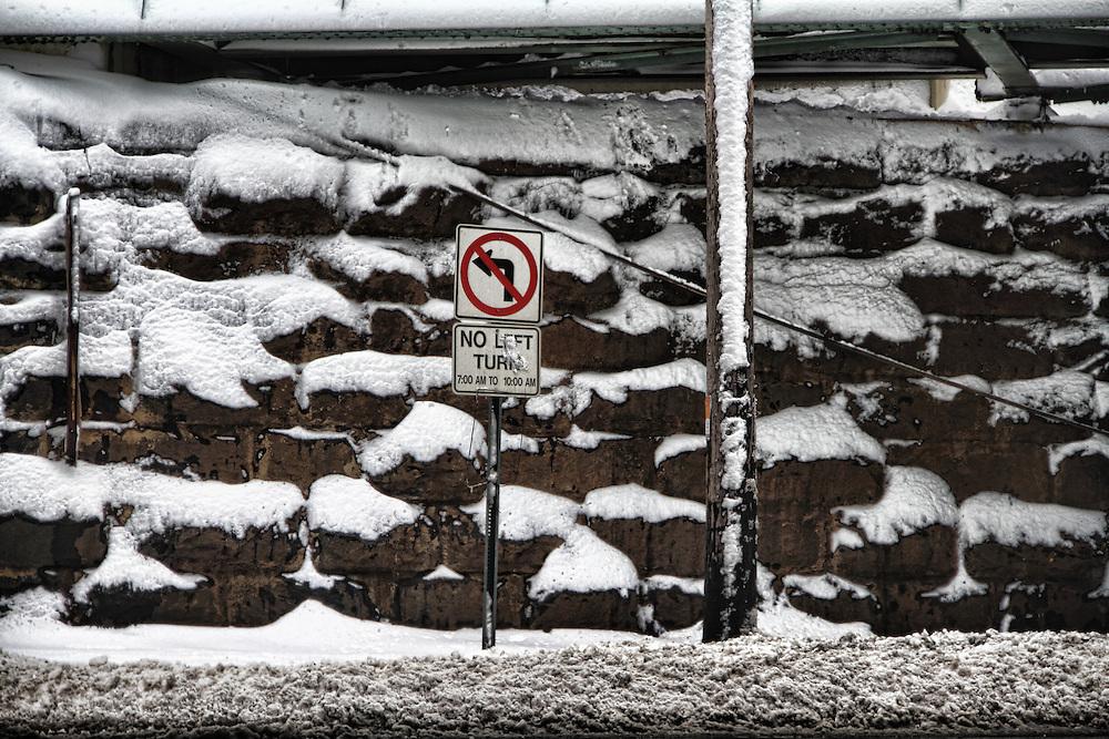 Snow storm in Hoboken, January 27, 2011.