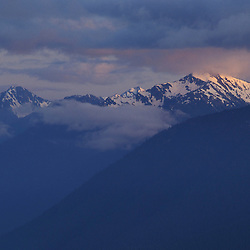 Hurricane Ridge, WA.Last light finds the Olympic Range in Olympic N.P.