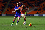 Blackpool Defender Tom Aldred during the Sky Bet League 1 match between Blackpool and Oldham Athletic at Bloomfield Road, Blackpool, England on 16 February 2016. Photo by Pete Burns.