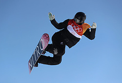 New Zealand's Zoi Sadowski Synnott in the Ladies' Slopestyle Snowboard Final during day three of the PyeongChang 2018 Winter Olympic Games in South Korea.