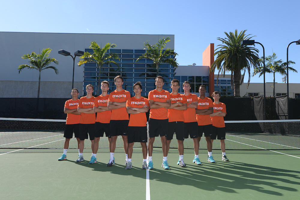 2015 Miami Hurricanes Men's Tennis Photo Day