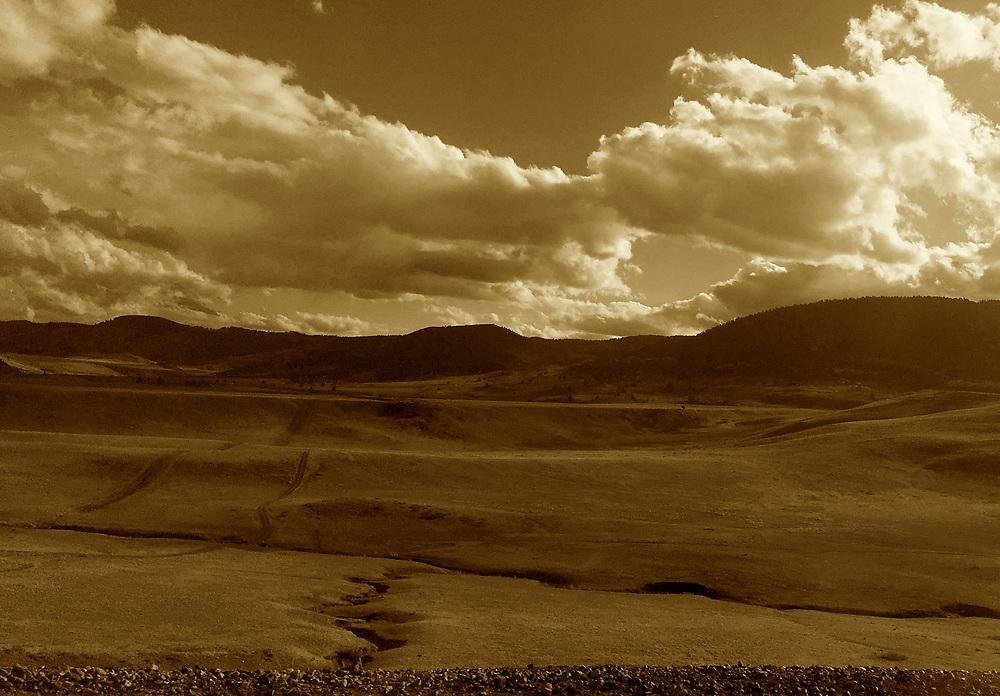 Amtrak Zephyr landscape, Arvada, Colorado