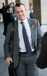 © London News Pictures. 29/10/2013 . London, UK.  STEPHEN FITZPATRICK, managing director of Ovo Energy, leaving Portcullis house in Westminster, London after he and other bosses from the UK's leading energy companies faced questions from the Energy and Climate Change Committee about energy price rises. Photo credit : Ben Cawthra/LNP