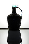 silhouetted wine carafe