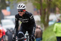 Peter Stetina (USA) of Trek - Segafredo (USA,WT,Trek) at Côte de Stockeu during the 2019 Liège-Bastogne-Liège (1.UWT) with 256 km racing from Liège to Liège, Belgium. 28th April 2019. Picture: Pim Nijland | Peloton Photos<br /> <br /> All photos usage must carry mandatory copyright credit (Peloton Photos | Pim Nijland)