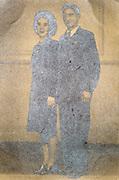couple in uniform studio portrait ca 1950s