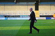 Burnley's Manager Sean Dyche paces out the Pirelli Stadium pitch during the EFL Cup match between Burton Albion and Burnley at the Pirelli Stadium, Burton upon Trent, England on 25 September 2018.