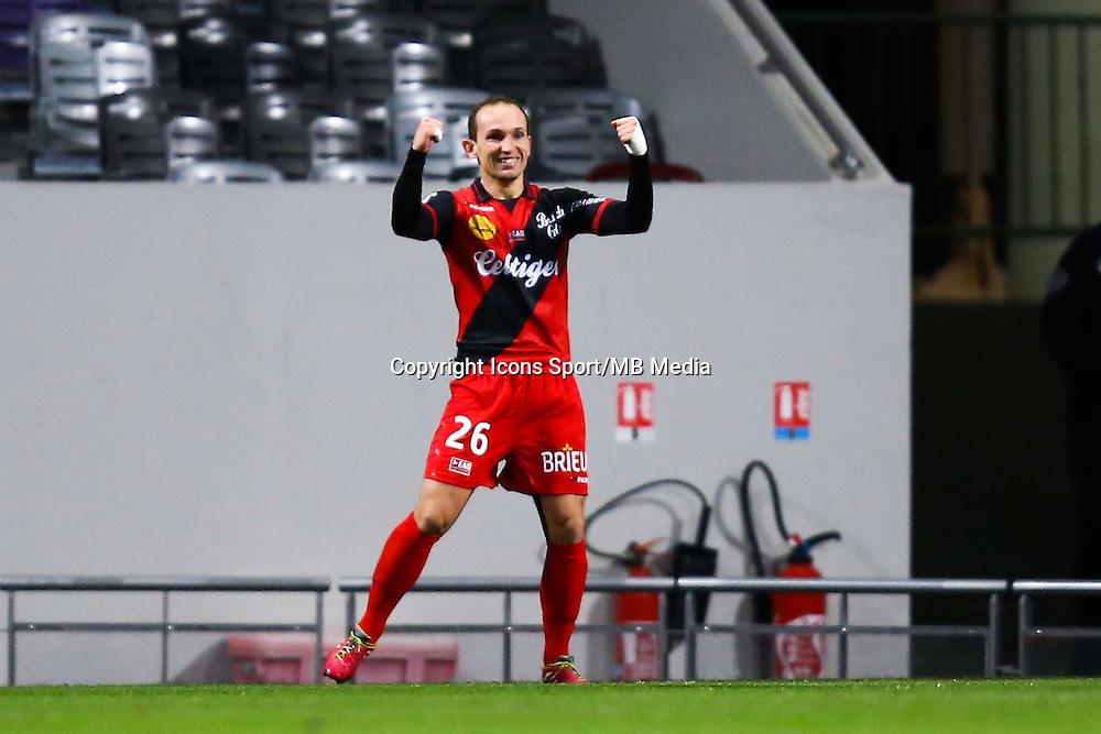 Joie Thibault Giresse - 20.12.2014 - Toulouse / Guingamp - 19eme journee de Ligue 1 <br /> Photo : Manuel Blondeau / Icon Sport