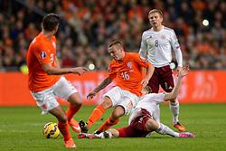 16-11-2014 NED: EK Kwalificatie Nederland - Letland, Amsterdam<br /> Nederland wint in de Arena met 6-0 van Letland / Jordy Clasie