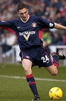 Photo Pete Downing<br />Crewe Alex V Sunderland.<br />Nationwide division one.<br /> 22/11/ 2003.<br />Sunderlands Stewart Downing on the attack.<br /><br />Photo:Peter Downing (Freelance)<br />T:07931 594789<br />E:photopete1@hotmail.com