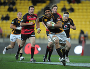 Victor Vito heads for the tryline. ITM Cup rugby union - Wellington Lions v Canterbury at Westpac Stadium, Wellington, New Zealand on Wednesday, 27 July 2011. Photo: Dave Lintott / photosport.co.nz