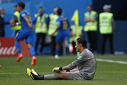 (l-r) goalkeeper Keylor Navas of Costa Rica during the 2018 FIFA World Cup Russia group E match between Brazil and Costa Rica at the Saint Petersburg Stadium on June 22, 2018 in Saint Petersburg, Russia.