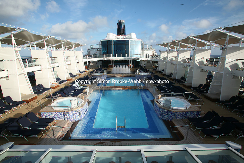 Celebrity Solstice Launch, Miami, Florida..Main Pool.