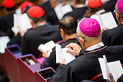 Vatican City oct 9th, 2015, extraordinary synod on family. in the picture some bishops in the Synod Hall