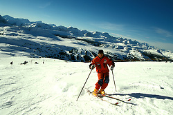 Canada: Winter in the Rockies.  Skiing at Goat's Eye-Sunshine.  Photo #: canwin102..Photo copyright Lee Foster, 510/549-2202, lee@fostertravel.com, www.fostertravel.com