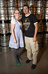 Helena Schmidt from Germany and Mark Flanagan from England pictured at the Guinness Storehouse, celebrating talent and creativity on Arthur's Day 2013. Picture Andres Poveda