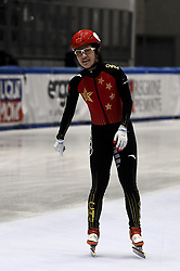 February 8, 2019 - Torino, Italia - Foto LaPresse/Nicolò Campo .8/02/2019 Torino (Italia) .Sport.ISU World Cup Short Track Torino - Mixed Gender Relay Heats.Nella foto: Jinyu Li..Photo LaPresse/Nicolò Campo .February 8, 2019 Turin (Italy) .Sport.ISU World Cup Short Track Turin - Mixed Gender Relay Heats .In the picture: Jinyu Li (Credit Image: © Nicolò Campo/Lapresse via ZUMA Press)