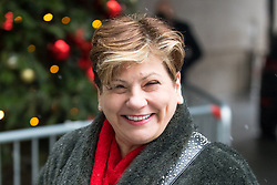 © Licensed to London News Pictures. 10/12/2017. London, UK. Shadow Foreign Secretary Emily Thornberry arriving at BBC Broadcasting House to appear on The Sunday Politics Show this morning. Photo credit : Tom Nicholson/LNP