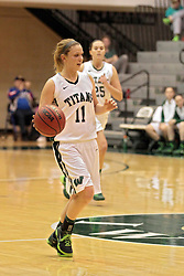 15 January 2014:  Lexi Baltes during an NCAA women's division 3 basketball game between the Millikin Big Blue and the Illinois Wesleyan Titans in Shirk Center, Bloomington IL