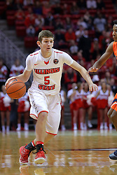 10 December 2016:   Matt Hein(5) during an NCAA  mens basketball game between the UT Martin Skyhawks and the Illinois State Redbirds in a non-conference game at Redbird Arena, Normal IL