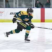 2nd year forward, Corwin Stevely (12) of the Regina Cougars during the Men's Hockey Home Game on Fri Oct 12 at Co-operators Center. Credit: Arthur Ward/Arthur Images