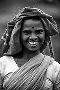 Portrait of a tamil woman on a tea estate.