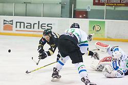 Sabastjan Groselj of HK Playboy Slavija during ice hockey match between HK Playboy Slavija and HDD Telemach Olimpija in semi-final of Slovenian Cup, on November 10, 2015  in Ledena Dvorana Zalog, Ljubljana, Slovenia. Photo by Urban Urbanc / Sportida