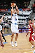 DESCRIZIONE : Madrid Spagna Spain Eurobasket Men 2007 Qualifying Round Italia Turchia Italy Turkey GIOCATORE : Massimo Bulleri <br /> SQUADRA : Nazionale Italia Uomini Italy <br /> EVENTO : Eurobasket Men 2007 Campionati Europei Uomini 2007 <br /> GARA : Italia Turchia Italy Turkey <br /> DATA : 10/09/2007 <br /> CATEGORIA : Tiro <br /> SPORT : Pallacanestro <br /> AUTORE : Ciamillo&amp;Castoria/E.Castoria <br /> Galleria : Eurobasket Men 2007 <br /> Fotonotizia : Madrid Spagna Spain Eurobasket Men 2007 Qualifying Round Italia Turchia Italy Turkey Predefinita :