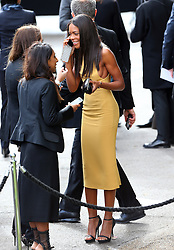 Naomie Harris leaving the LFW: Burberry Prorsum - s/s 2014 catwalk show at Kensington Gardens, Kensington Gore in London, UK. 16/09/2013<br />