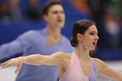 January 17, 2018 - Moscow, Russia - Natalia Zabiiako and Alexander Enbert of Russia perform their short program in the pair competition at the 2018 ISU European Figure Skating Championships, at Megasport Arena in Moscow. (Credit Image: © Igor Russak/NurPhoto via ZUMA Press)